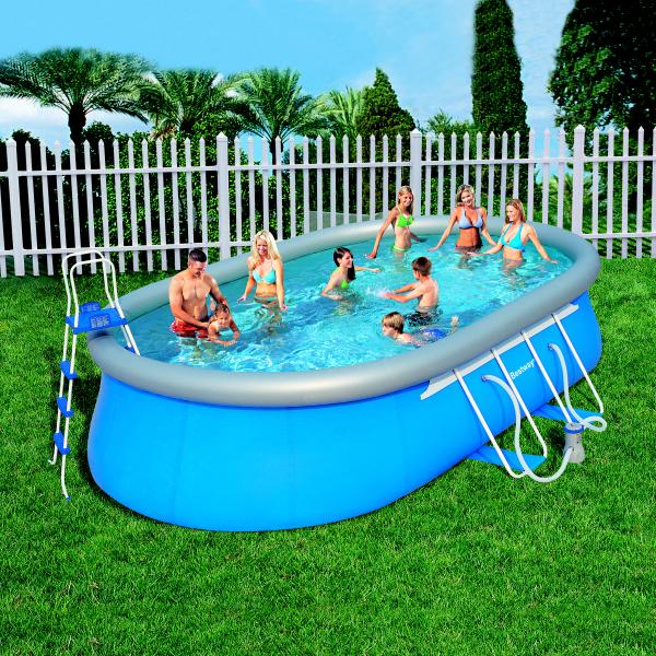 Bazén BESTWAY Oval Fast 366 x 610cm set s filtrací