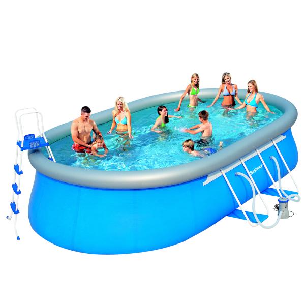Bazén BESTWAY Oval Fast 366 x 549cm set s filtrací