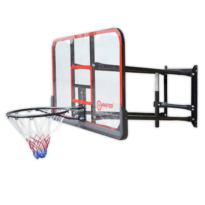 Basketbalová deska MASTER 127 x 71 cm s konstrukcí, doprava zdarma